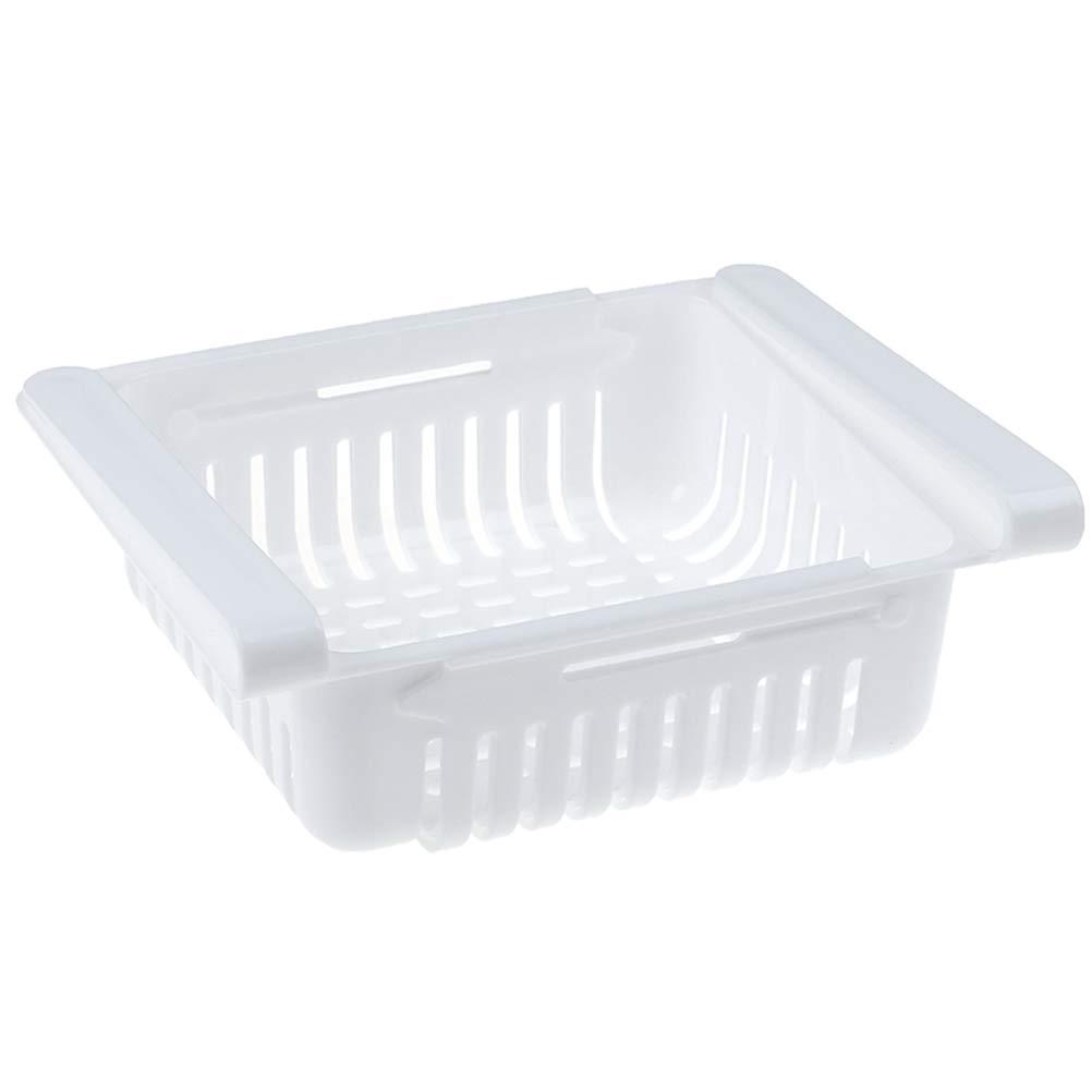 CHENLIGHT 1 PC Beige Household Fridge Storage Box Kitchen Refrigerator Storage Rack Kitchen Space Saver Organization