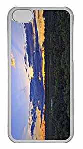 iPhone 5C Case, Personalized Custom Sunbeams And Water Lilies for iPhone 5C PC Clear Case