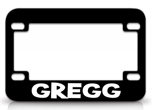 - I LOVE GREGG Male Names Metal MOTORCYCLE License Plate Frame Blc