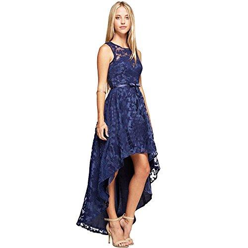 Blue Lace High Low Prom Dress: Amazon.com