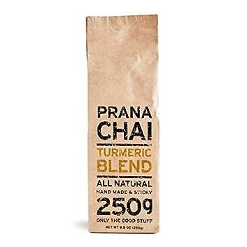 Prana Chai TURMERIC Blend 250 g - All-Natural, no sugars, no syrups, no  concentrates, no preservatives