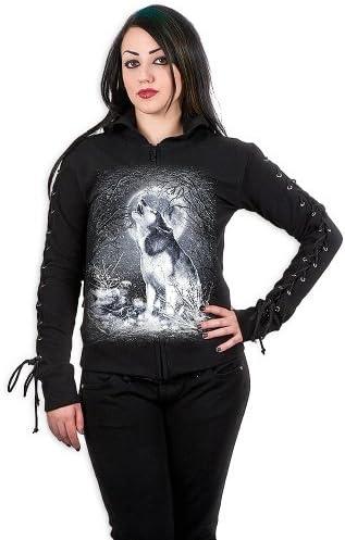 Damen Pulli SPIRAL - White Wolf - Black - T053F265