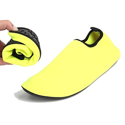Barerun Barfuß Quick-Dry Frauen Männer Wasser Schuhe Haut Aqua Socken für Schwimmen Beach Pool Surf Yoga Sport Übung Reines Gelb