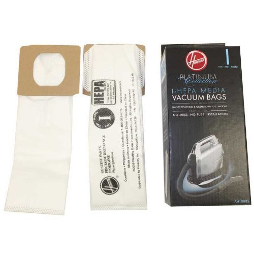 Hoover 8 Platinum I Vacuum Bags for Platinum Canisters( 4 PACKS EACH WITH 2 BAGS) ()
