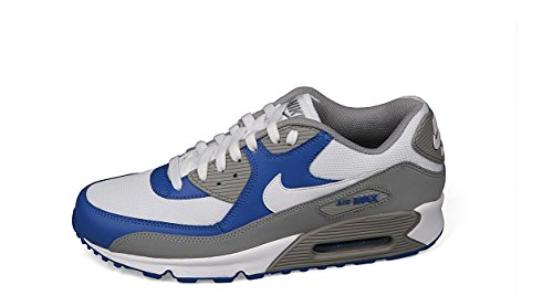 Nike Air Max 90 Grey/ White, Royal Mens Running Sneakers 325018-054