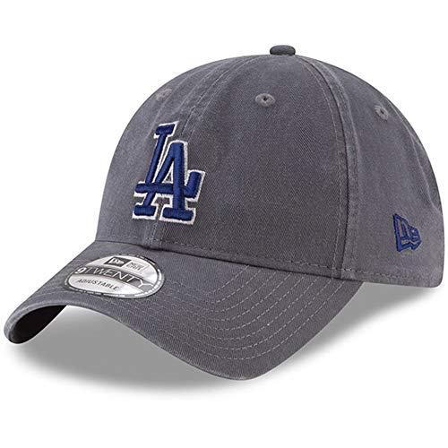 New Era 920 Los Angeles Dodgers Core Classic Strapback Hat (Graphite) MLB Cap
