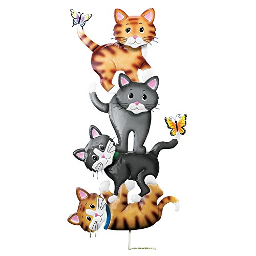 Collections Etc Cat Playtime Decorative Outdoor Yard Stake by Collections Etc