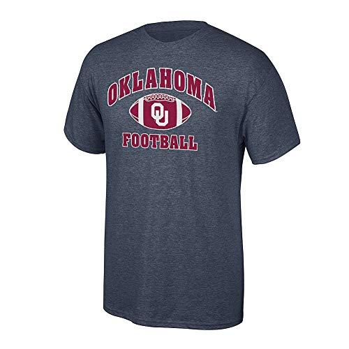 Elite Fan Shop NCAA Men's Oklahoma Sooners Football T-shirt Dark Heather Oklahoma Sooners Dark Heather X - Sooners Oklahoma Mens T-shirts