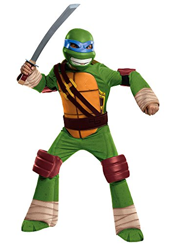 Rubies Teenage Mutant Ninja Turtles Deluxe Leonardo Child Costume-Small ()