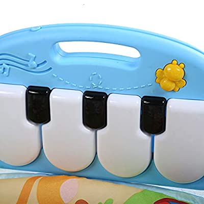 iFCOW Baby Gym Mat, Baby Fitness Play Mat Musical Piano Keyboard Gym Carpet Educational Toy for 0-18M Kids : Baby