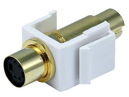 Monoprice 106558 Keystone Jack-S-Video Mini 4Pin M/F, White ()