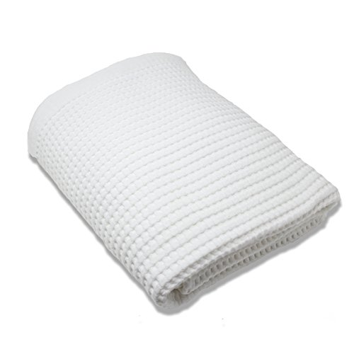 Gilden Tree 100% Natural Cotton Lattice Waffle Weave Bath Towel (White)