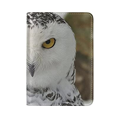 Cat Owl Art Leather Passport Holder Cover Case Travel One Pocket