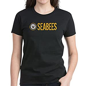 CafePress - U.S. Navy: Seabees T-Shirt - Womens Cotton T-Shirt by CafePress