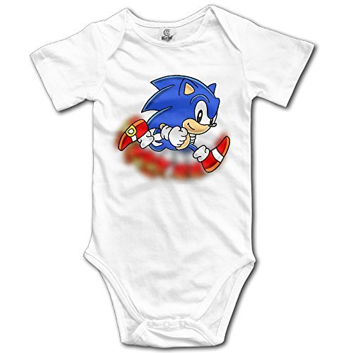 Price comparison product image Sonic The Hedgehog Personalize For Baby Climbing Clothes - White