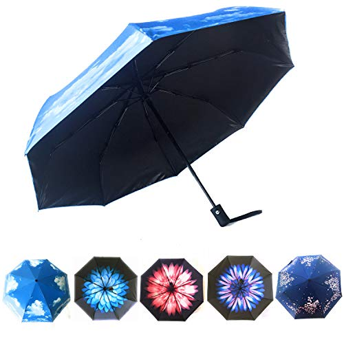 Sun Umbrella UV Protection by Hawaiian Sunsets   Use together with Sun Protection Clothing Women for Maximum UPF50 Sun Protection   Parasol Umbrella UV Protection Available in Beautiful Designs!