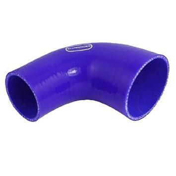 DealMux de silicona de 3 capas turbo intercooler codo de 90 grados Reductor Tubo Manguera de