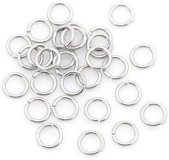Paquet 110 Y00110 Charming Beads Argent 304 Acier Inoxydable 1 x 4mm Anneaux Ouverts