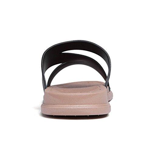 piatto da 2018 Dimensione Uomo da uomo Nero Color da Nero shoes alla Cinturino EU Xujw donna caviglia 35 e Sandali xaI5q75w8