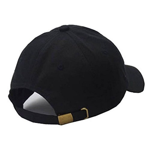 Mens Plain Baseball Cap Cotton Black Fashion Unisex Adjustable - Import It  All 4cc32a19c76