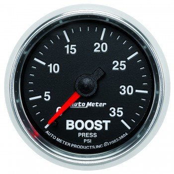 Auto Meter 3804 GS 2-1/16'' 0-35 PSI Mechanical Boost Gauge