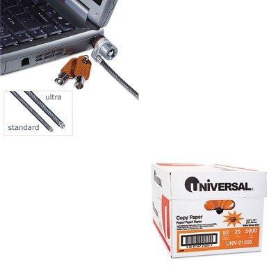 KITKMW67723UNV21200 - Value Kit - Kensington MicroSaver Keyed Ultra Laptop Lock (KMW67723) and Universal Copy Paper (UNV21200)