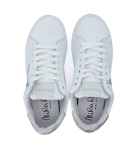 Pelle Sneaker Stella in Rubens Nira Bianca Daiquiri Bianco Argento gqnIPt5wW