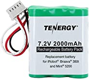 Tenergy 7.2V 2000mAh Replacement Battery for iRobot? Braava? 380t & Mint? 5200 by Ten