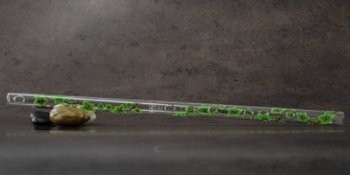 Hall Crystal Flute 21904 - Offset Glass Flute in F - Green ()