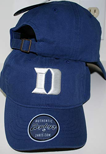 Zephyr Duke University DU Dukies Blue Devils Top Blue Scholarship Relaxed Unstructured Adult Mens/Boys/Womens Adjustable Baseball Hat/Cap