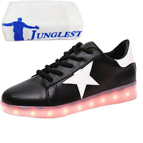 [+Kleines Handtuch]Kinderschuhe USB Lade Licht Jungen emittierende Schuhmädchenschuh leuchtende LED beleuchtete Sportschuhe großer Junge Sc c40