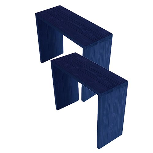 (2台セット)  ウッドステージ ワイド  (長さ66cm x 奥行き27cm x 高さ54cm, GBガーデンブルー) B079Z7VJ9X 長さ66cm x 奥行き27cm x 高さ54cm|GBガーデンブルー GBガーデンブルー 長さ66cm x 奥行き27cm x 高さ54cm