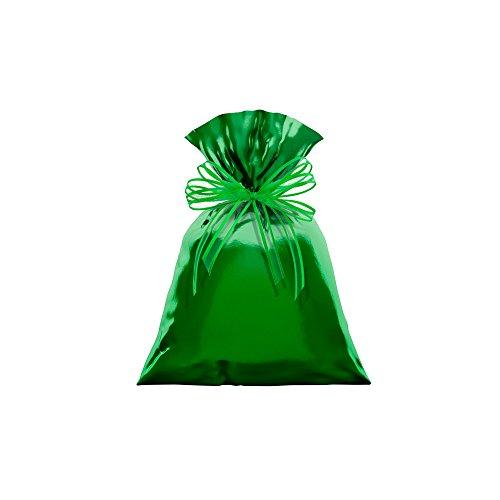 Regina Saco Metalizado 15x22cm Verde - Pacote De 50 Unidades