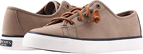Sperry Womens Seacoast Nubuck Taupe 1 Oxford