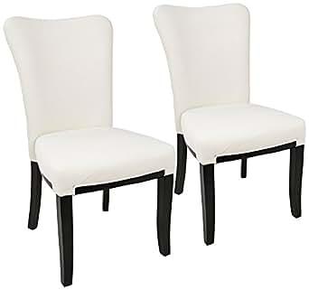 Olivia Cream Velvet Dining Chair Set of 2