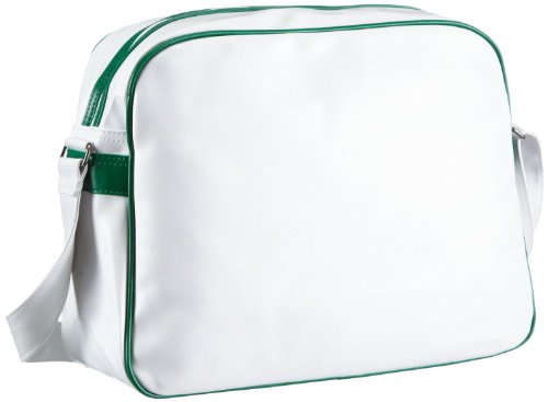 Dunlop Borsa a tracolla, borsa a spalla Classic Manchester, Bianco/Verde