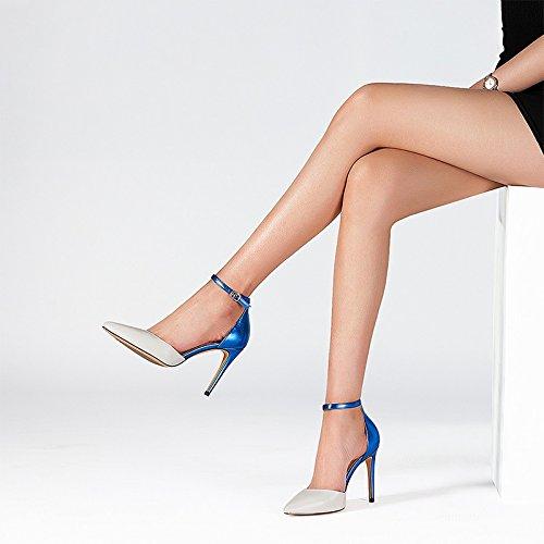 Naisten Nahkasandaalit Size Sandals Ja 39 Pointy väri Varten Spring Harmaa Gray Apricot Leather Stiletto Aprikoosi Summer Teräväkärkiset Muoti And Fashion Matching Women's color Kesän For Jianxin Kevään Heels Koko Piikkikorot 6PqSw7Y