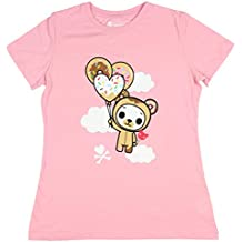 Tokidoki Women's Floating Biscotti Tee T-Shirt Pink