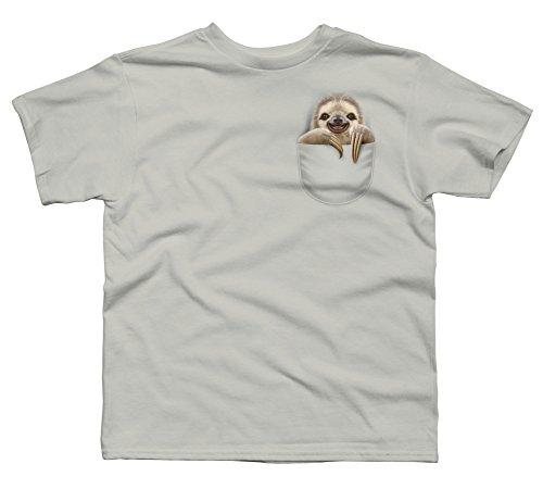 Design By Humans Pocket Sloth Boy'S Youth Graphic T Shirt -