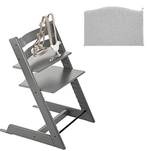 Stokke Tripp Trapp High Chair - Storm Grey & Junior Cushion