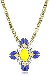 Anton Heunis Diamond Floral Fancy Chain Pendant Necklace