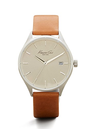 kenneth-cole-new-york-mens-classic-quartz-stainless-steel-and-brown-leather-dress-watch-model-100293