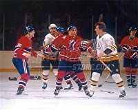 Terry O'Reilly Boston Bruins Chris Nilan fight 8x10 11x14 16x20 photo 869 - Size 8x10