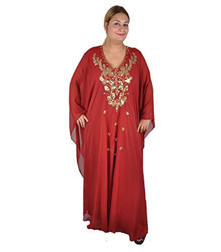 Bazar Différentes XxxlDisponible À Mousseline De gold AbayaTaille Robe Couleurs Weinrot Unique Egypt M Soirée En MpGzVSqU
