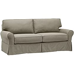 "Stone & Beam Carrigan Modern Slipcover Sofa, 88.5""W, Grey Taupe"