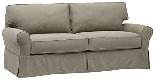 Stone & Beam Carrigan Modern Sofa Couch with Slipcover, 88.5