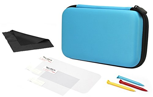 AmazonBasics Carrying Case for Nintendo 2DS XL with 3 Stylus Pens and 2 Screen Protectors  - Turquoise