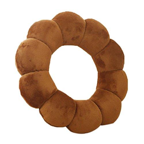 Remeehi-Sunflower-Neck-Pillow-Cute-Donut-Cushion-Funny-Flower-Nap-Pillow-30cm118inch-Brown