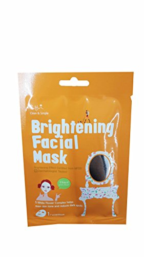 Price comparison product image 5 Mask Sheets of Cettua Clean & Simple Brightening Facial Mask.