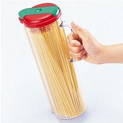 Auto Spaghetti Storage Container Pasta Dispenser Jar Canister Kitchen Fridge